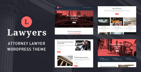✅ Lawyers – Responsive Business WordPress Theme Nulled