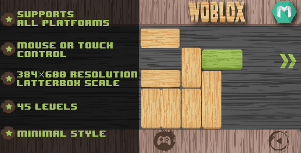 ✌Woblox – HTML5 Game (Construct 2 & Construct 3) Nulled