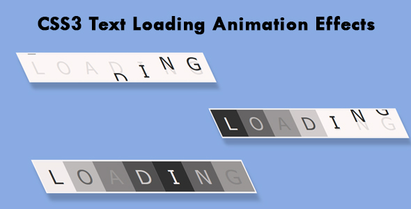 ✅ CSS3 Text Loading Animation Effects Nulled
