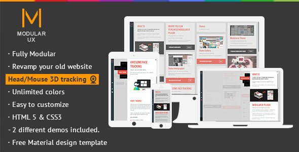 ✨Modularux jQuery – Responsive Grid Facetracking Nulled