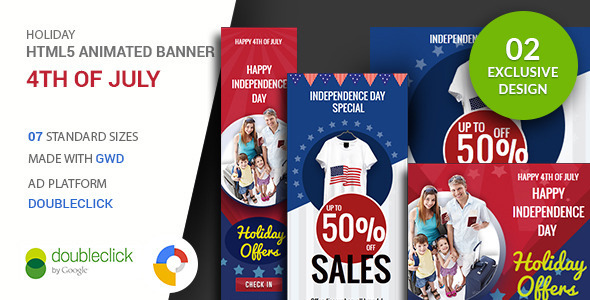 ✌4th of July | Google Ad HTML Banner Nulled