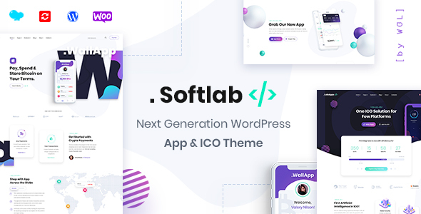 ✅ Softlab – Startup and App WordPress Theme Nulled