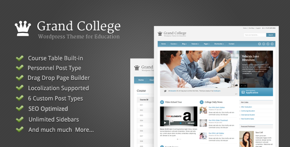 ✨Grand College – WordPress Theme For Education Nulled