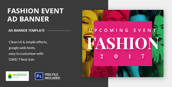 ✨Fashion Event-HTML Animated Banner 04 Nulled