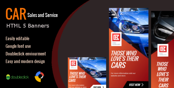 ✨Car Sales and Service – HTML Animated Banner 01 Nulled