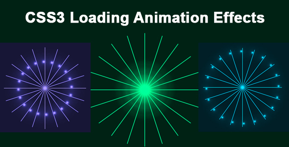✨CSS3 Loading Animation Effects Nulled