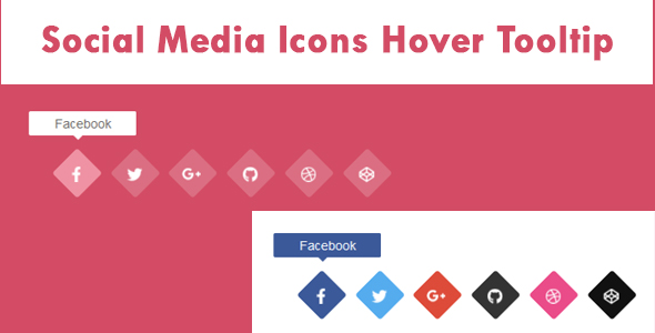 ✅ Social Media Icons Hover Tooltip Nulled