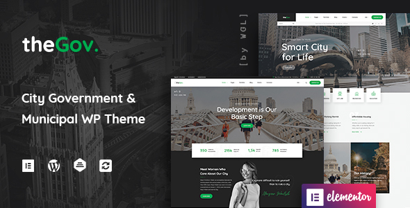 ✨TheGov –  Municipal and Government WordPress Theme Nulled
