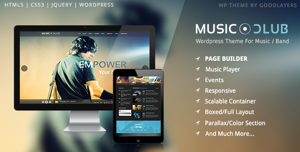✨Music Club – Band | Party WordPress Nulled