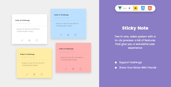 ✨Sticky To-Do Notes Nulled