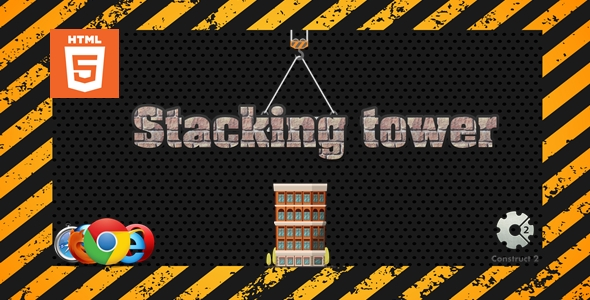✨Stacking tower – Casual game – HTML5 Nulled