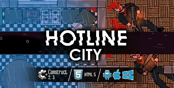 ✨Hotline City – HTML5 Shooter Game Nulled