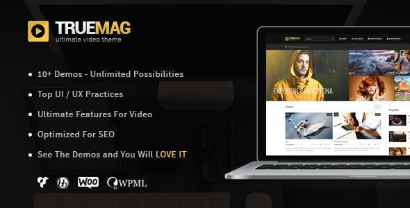 ✨True Mag – WordPress Theme for Video and Magazine Nulled