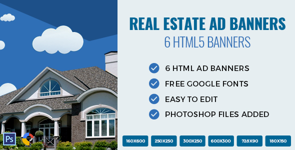 ✌Real Estate – HTML Ad Banners  Nulled