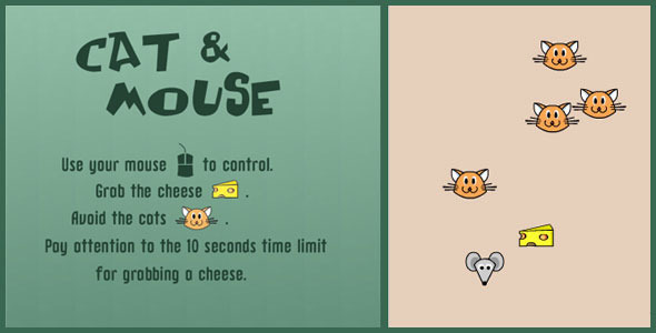 ✌Cat & Mouse – HTML 5 Canvas Game Nulled