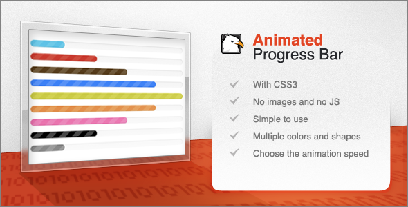 ✨CSS3 Animated Progress Bar Nulled