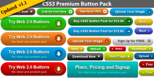 ✨CSS3 Premium Button Pack Nulled
