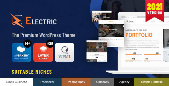 ✅ Electric – The WordPress Theme Nulled
