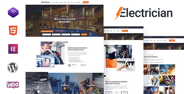 ✨Electrician – Electricity Services WordPress Theme Nulled
