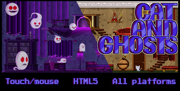 ✅ Cat and Ghosts – HTML 5 Game Nulled