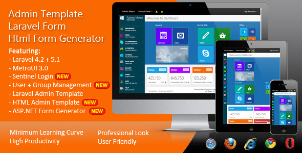 ✨Laravel Form – HTML Form Generator – Admin Template Nulled