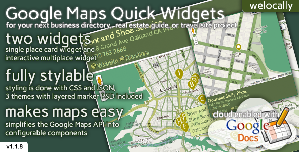 ✨Map Widgets for jQuery Nulled