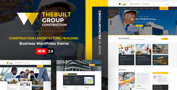 ✌TheBuilt – Construction and Architecture WordPress theme Nulled