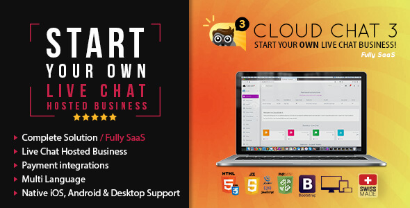 ✌Fully SaaS Live Support Chat – Cloud Chat 3 Nulled