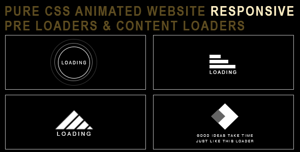 ✅ Animated Loaders / Preloaders – Pure CSS Nulled