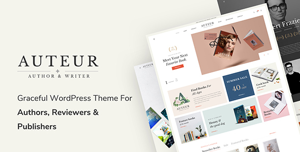 ✅ Auteur – WordPress Theme for Authors and Publishers Nulled