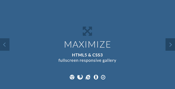 ✨Maximize – HTML5 & CSS3 Fullscreen Image Gallery Nulled