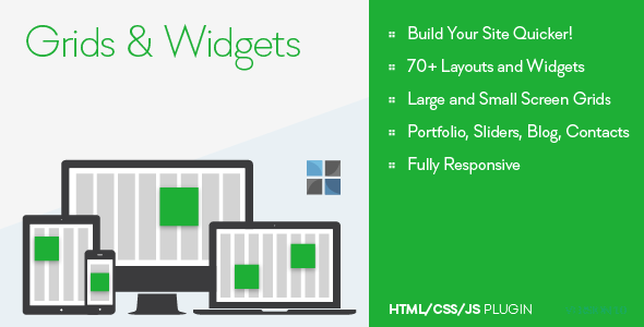 ✌Grids and Widgets – HTML/CSS/JS Nulled