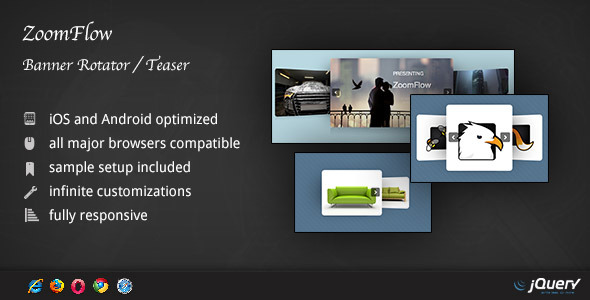 ✌ZoomFlow – Banner Rotator / Teaser Nulled