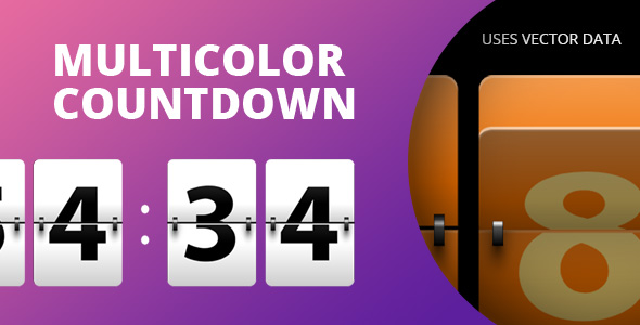 ✅ Multicolor Countdown for Adobe Muse. Nulled