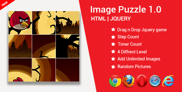 ✅ Image Puzzle Game | Puzzle Game | HTML | JQUERY | JAVASCRIPT Nulled
