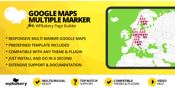 ✨Google Maps With Multiple Markers Addon for WPBakery Page Builder (formerly Visual Composer) Nulled