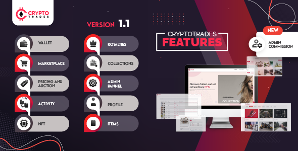 ✌Crypto Trades – Opensea Clone using ERC721 Nulled